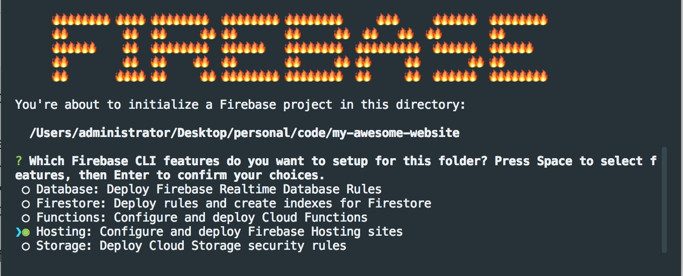 Initialize Firebase Project